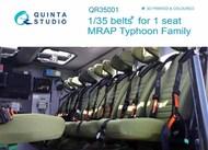 Quinta Studio  1/35 MRAP Typhoon-K 6X6 Armoured Vehicle Family seat belts for 1 seat QTSQR35001