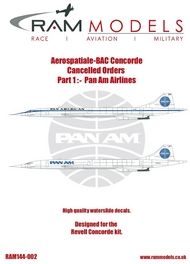 Aerospatiale Concorde Cancelled Orders. Pan Am #RAMM14402