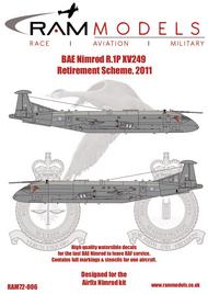 BAe Nimrod R.1p XV249 Retirement Scheme, 2011 #RAMM72006