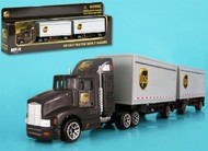 Realtoy International  1/87 UPS Tractor w/2 Trailers (Die Cast) RLT4345