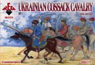 Ukrainian Cossack Cavalry XVI Century Set #1 (12 Mtd) #RBX72125