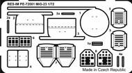 Mikoyan MiG-23 upgrade PE set #RESIM7249
