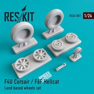 ResKit  1/24 Grumman F6F-5 Hellcat Land based wheels set RS24-0001