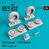 ResKit  1/24 Grumman F6F-5 Hellcat Naval based wheels set RS24-0002
