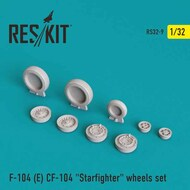 Lockheed CF-104 Starfighter wheels set #RS32-0009