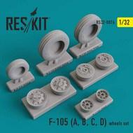Republice F-105 Thunderchief (F-105A, F-105B, F-105C, F-105D) wheels set #RS32-0076