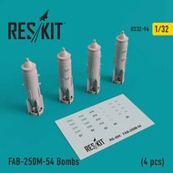 FAB-250-54 Bombs (4 pcs) as fitted to Sukhoi Su-25K/Su-25UB Frogfoot , Mikoyan MiG-21F-13/MiG-21MF/MiG-21UM/MiG-27 #RS32-0094