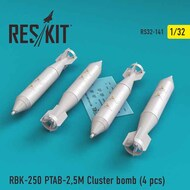 RBK-250 PTAB-2,5M Cluster bomb (4 pcs)as fitted to Sukhoi Su-25K/Su-25UB Frogfoot , Mikoyan MiG-21F-13/MiG-21MF/MiG-21UM/MiG-27 #RS32-0141