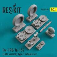 Focke-Wulf Fw.190/Ta-152 (Late version) Type 1 wheels set #RS32-0151