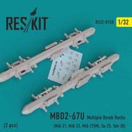 MBD2-67U 2 pcs Multiple Bomb Racks #RS32-0158