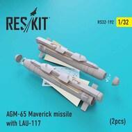 AGM-65 Maverick missile with LAU-117 (2pcs)(AV-8b, A-10, F-16, F-18) #RS32-0192