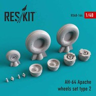 Hughes AH-64A Apache Type 2 wheels set RS48-0144