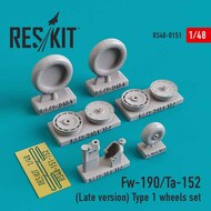 Focke-Wulf Fw.190/Ta.152 (Late version) Type 1 wheels set #RS48-0151