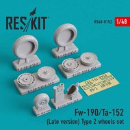 Focke-Wulf Fw.190/Ta.152 (Late version) Type 2 wheels set #RS48-0152