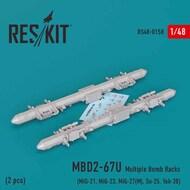 MBD2-67U (2 pcs) Multiple Bomb Racks (MiG-21, MiG-23, MiG-27(М), Su-25, Yak-38) #RS48-0158