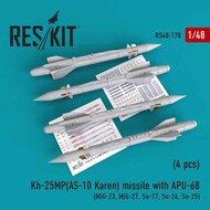 Kh-25MP(AS-10 Karen) missile with APU-68 (4 pcs) RS48-0178