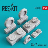 Sukhoi Su-7 wheels set Eduard, SMER, KP #RS48-0181