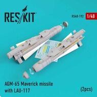 AGM-65 Maverick missile with LAU-117 (2pcs) AV-8b, A-10, F-16, F-18) #RS48-0192