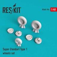 Dassault Super Etendard wheels set #RS48-0194