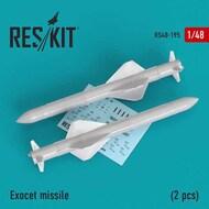 Exocet missile (2 PCS) (Dassault Super Etendard and Mirage 2000) #RS48-0195