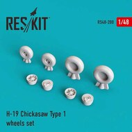Sikorsky S-55/H-19 Chickasaw Type 1 wheels set #RS48-0200