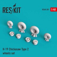 Sikorsky S-55/H-19 Chickasaw Type 2 wheels set #RS48-0201