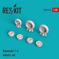 Kawasaki T-4 wheels set #RS48-0226