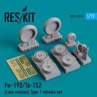 Focke-Wulf Fw.190/Ta.152 (Late version) Type 1 wheels set #RS72-0151