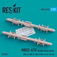 MBD2-67U (2 pcs) Multiple Bomb Racks(MiG-21, MiG-23, MiG-27, Su-25, Yak-38) #RS72-0158