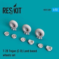 North-American T-28 Trojan LAND BASED wheels set #RS72-0209