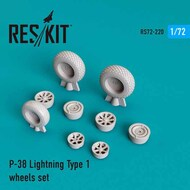 Lockheed P-38 Lightning Type 1 wheels set #RS72-0220
