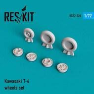 Kawasaki T-4 wheels set #RS72-0226