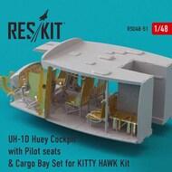 Bell UH-1D Huey Cockpit with Pilot seats & Cargo Bay Set Upgrade set #RSU48-0051