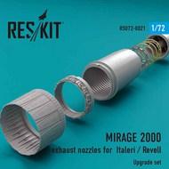 Dassault Mirage 2000 exhaust nozzles #RSU72-0021