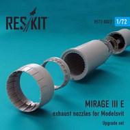 Dassault Mirage IIIE exhaust nozzles #RSU72-0022