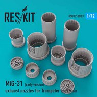 Mikolyan MiG-31 (early version) exhaust nozzles #RSU72-0023