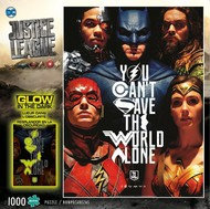 Buffies Best   N/A Justice League You Can't Save the World Alone Glow-in-Dark Puzzle (1000pc) BUF11766