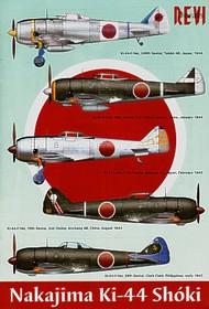 Revi  1/48 Nakajima Ki-44 Shoki Tojo (5) 29th Sentai China 1944 and Philippines 1945; 70th Sentai Japan 1945; 85th Sentai China 1944; 246th Sentai Japan 1944 REV48005