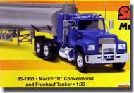 Revell USA  1/25 Mack R Conventional Tractor Cab w/Fruehauf Tanker (Snap) RMX1961