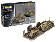 Revell of Germany  1/76 Char B.1 bis & Renault FT.17 RVL3278