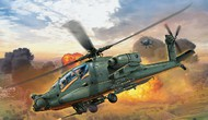 Revell of Germany  1/100 AH64A Apache US Army Combat Helicopter RVL4985