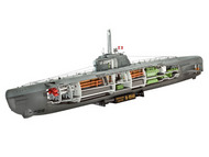 Revell of Germany  1/144 German U-Boat Type XXI Submarine w/Interior RVL5078