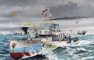 Revell of Germany  1/144 HMCS Snowberry Flower Class Corvette WWII Escort Warship RVL5132