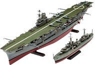 Revell of Germany  1/720 HMS Ark Royal Aircraft Carrier & Tribal Class Destroyer (2 Kits) RVL5149