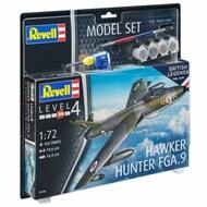 Hawker Hunter FGA-9 Fighter w/paint & glue RVL63908