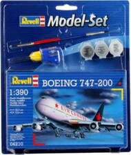 Revell of Germany  1/390 B747-200 Commercial Airliner w/paint & glue RVL64210