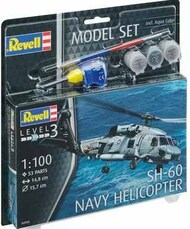 Revell of Germany  1/100 SH-60 Navy Helicopter w/paint & glue RVL64955