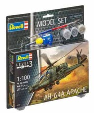 Revell of Germany  1/100 AH-64A Apache Attack Helicopter w/paint & glue RVL64985