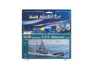 Revell of Germany  1/1200 USS Missouri Battleship WWII w/paint & glue RVL65128