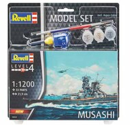 Revell of Germany  1/1200 Musashi Japanese Battleship w/paint & glue RVL66822